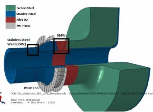 3D cross section of MSIP on safety nozzle